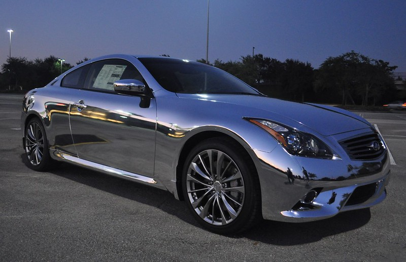 Chrome wrapped Infiniti by TechnoSigns Orlando