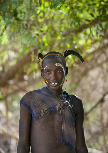Hamer Tribe Girl During Bull Jumping Ceremony, Turmi, Omo