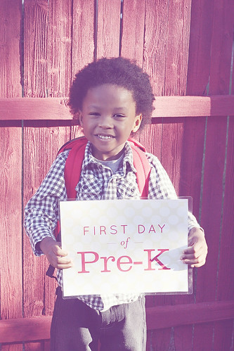 First Day of Pre-K (Exploratory Pre-K is what I like to call it.)