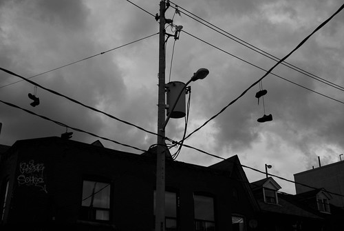 Wires, Shoes, Clouds