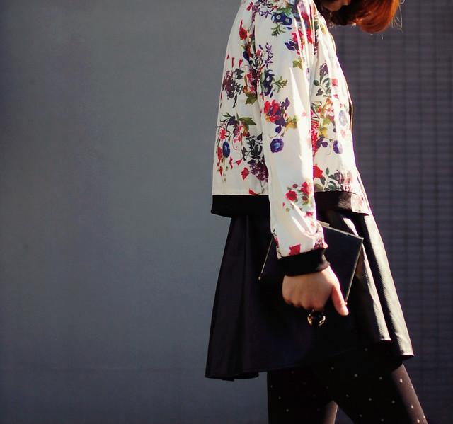 black & floral