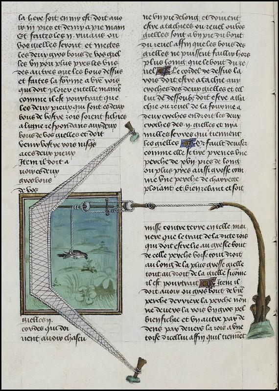 15th century illuminated manuscript miniature: Henri de Ferrières, Les Livres du roy Modus et de la royne Ratio 193