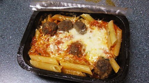 baked ziti and meatballs cooked