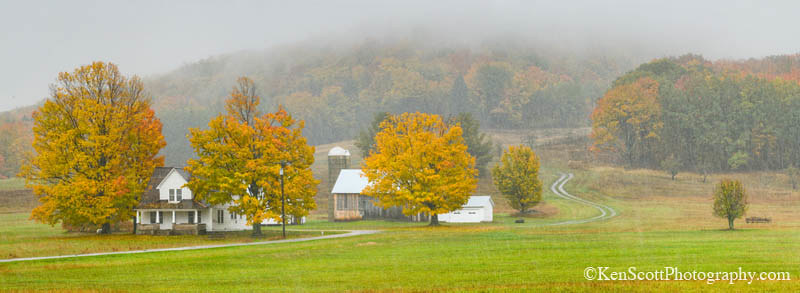 Color Tour ... Dechow Farm, in the rain