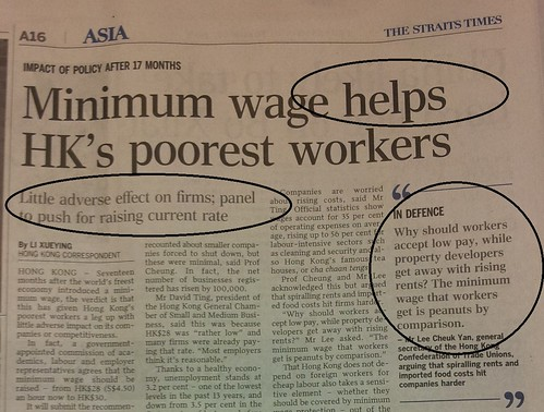 Minimum wage helps HK's poorest workers