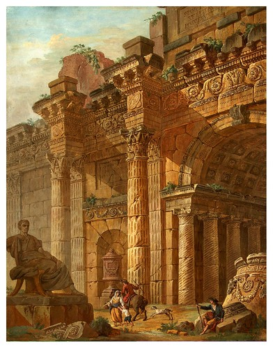 005-Fantasía arquitectónica- Charles-Louis Clérisseau- State Museum Hermitage