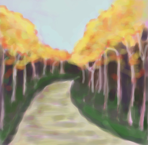 Bend in the Road (Digital Pastel) by randubnick