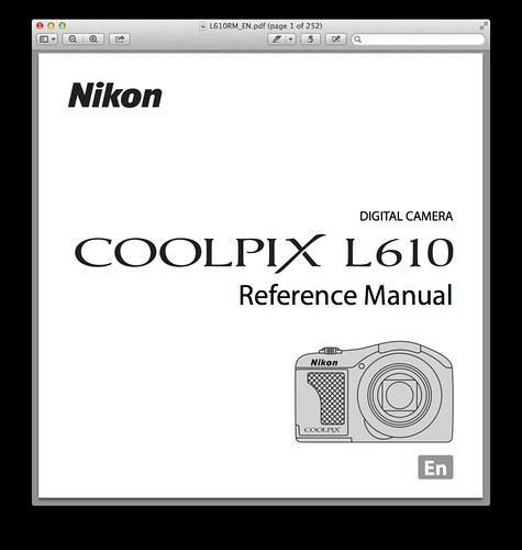 Nikon L610 Manual