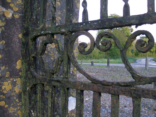 Newpass House, Rathowen, Westmeath - detail of wrought iron work (late 18th century)