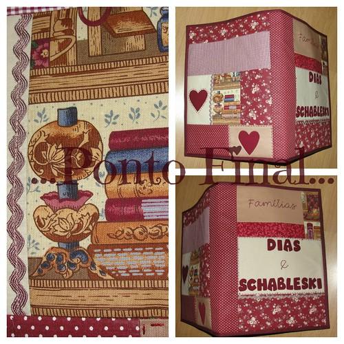 ..Capa em patchwork...Para Genealogia, documentos de família... by Ponto Final - Patchwork