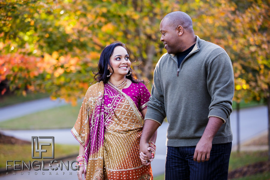 Janella & Chuck's Engagement Session | Three Chimneys Farm | Atlanta Indian Wedding Photographer