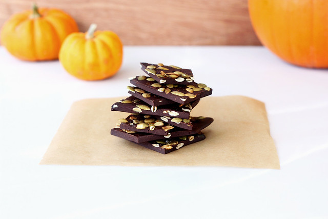 Spicy Dark Chocolate Bark with Toasted Pumpkin Seeds and Sea Salt ...