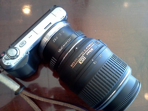 Sony NEX-C3 with Nikkor 18-55 VR by pvera