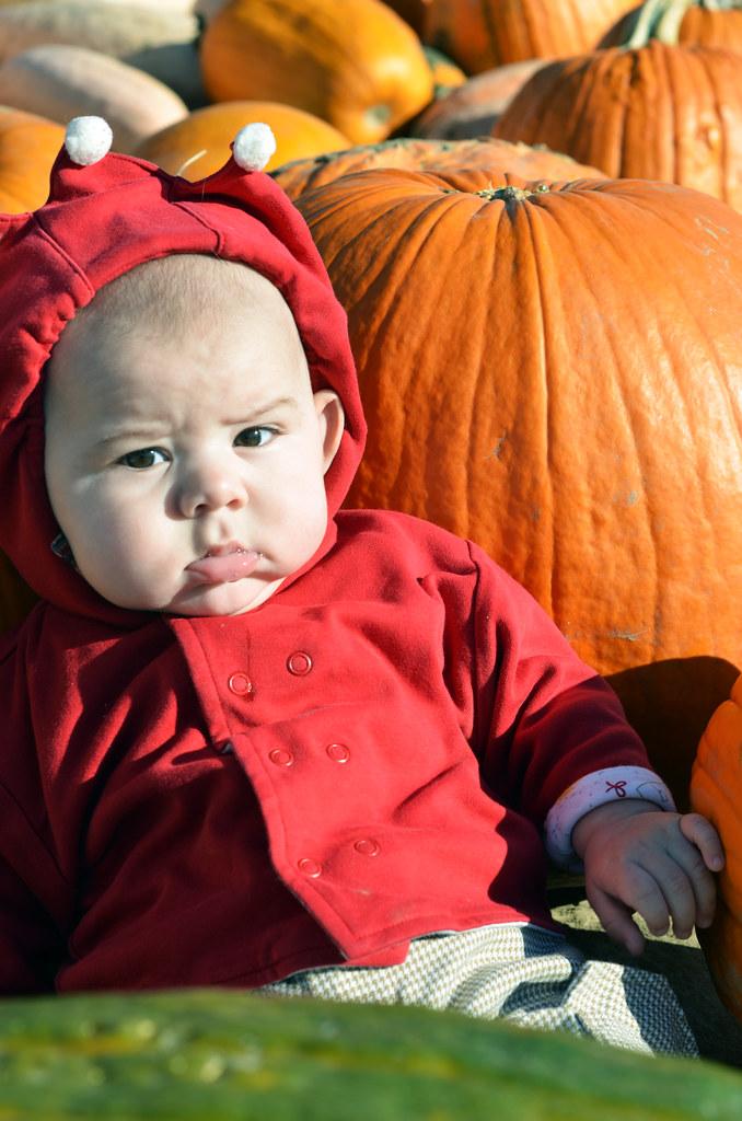 Baby Admist Gourds