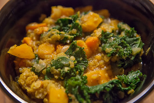 Sweet Potato Dal (with kale)