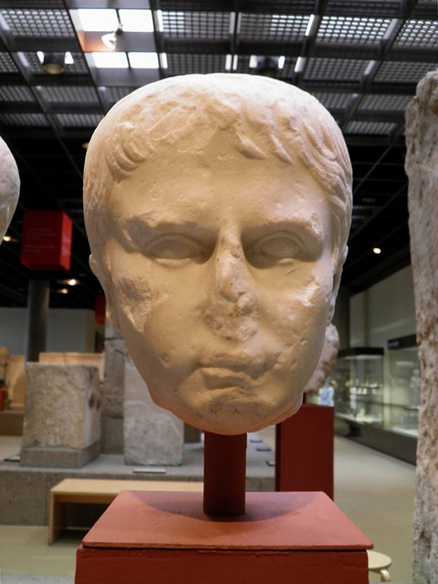 Portrait of Gaius Caesar (?), the style of his head indicates a member of the Julian House, perharps the grandson of Augustus, Romisch-Germanisches Museum, Cologne