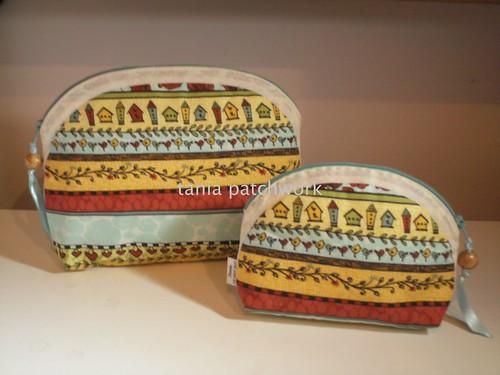 Kit Necessaire Casinhas de Passarinho...( o outro lado ) by tania patchwork