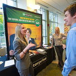 IF9 -- Internship Fair. Mary Kate Garner of Enterprise with Erik Bergstrom '14.