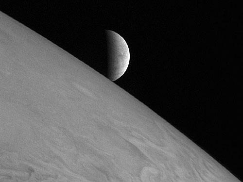 Ice moon Europa by New Horizons