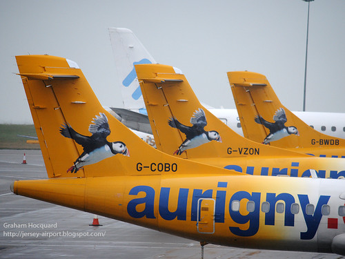 Aurigny ATR-72 line up at Jersey by Jersey Airport Photography