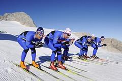 Běžci na lyžích se loučí s ledovcem a zamíří na sever