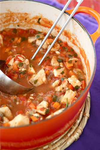Fisherman's Soup Recipe with Tilapia, Shrimp, Tomatoes & Capers