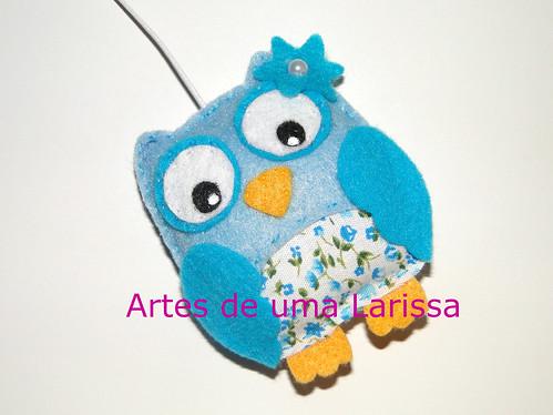 Corujita Azul by Artes de uma Larissa