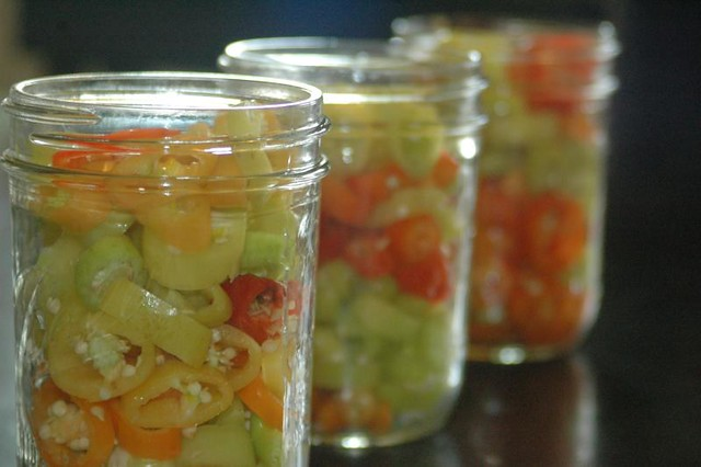 Perfect Pickled Banana Pepper Recipe: Easy, fast and the perfect combination of sweet and tangy! | www.TheAdventureBite.com