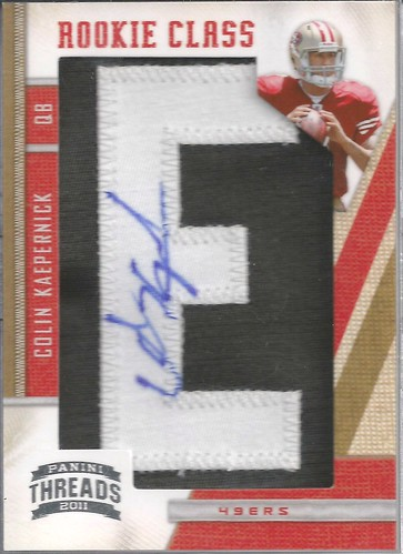 2011 Panini Threads #257 Colin Kaepernick AU RC 5E (205 of 500)