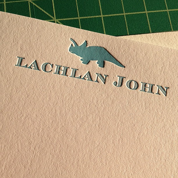 New #letterpress #stationery for my little one.