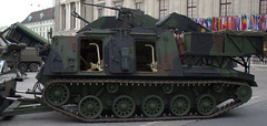 armored car(0.0), m113 armored personnel carrier(0.0), army(1.0), combat vehicle(1.0), military vehicle(1.0), weapon(1.0), vehicle(1.0), tank(1.0), self-propelled artillery(1.0), churchill tank(1.0), land vehicle(1.0), military(1.0),