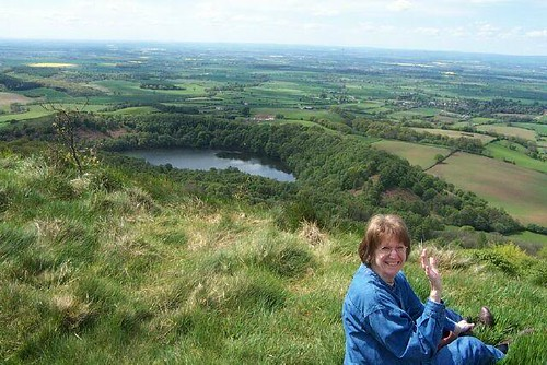 Sandy atop Sutton Bank, N. Yorkshire, England 2002