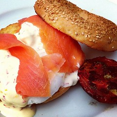 Smoked salmon and poached egg
