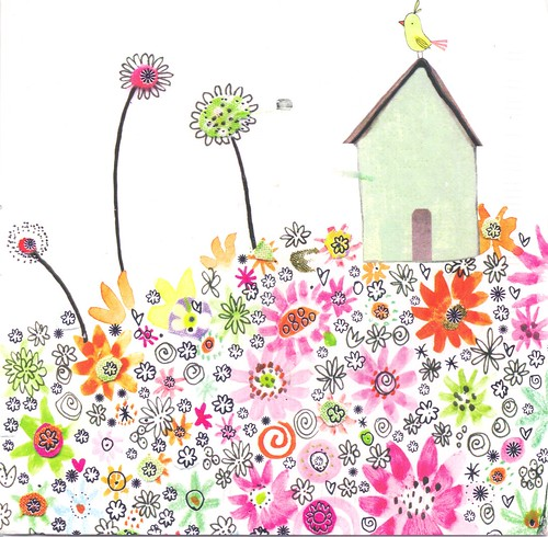 Happy House in Flowers