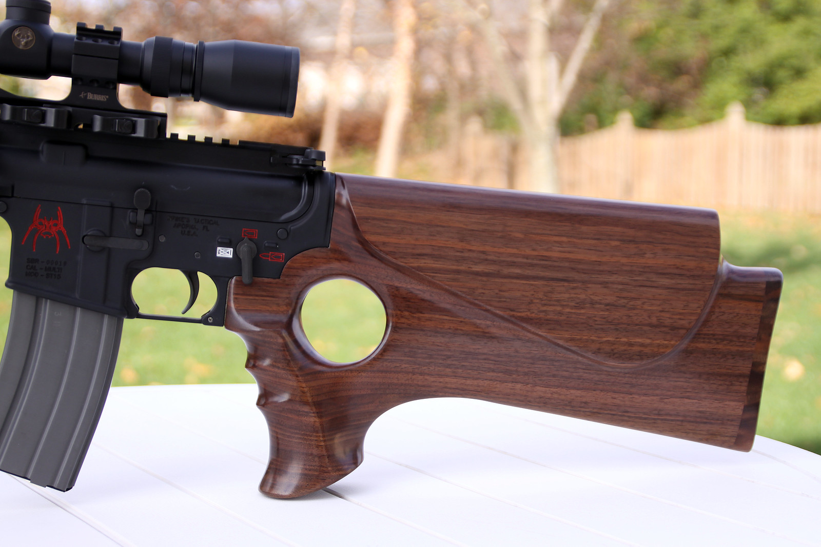 I Recently Decided To Make Myself A Wooden Stock For My Mossberg 702