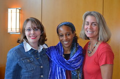 Dr. Kara Hallmark, Muhsana Ali, and Paula Gerstenblatt