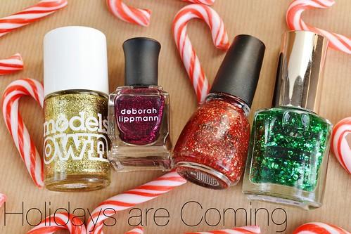 christmas glitter nail polish