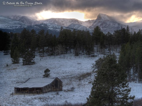 ranch winter sunset storm mountains barn colorado indianpeaks bouldercounty mountaudubon peaktopeakhighway overlandroad sawtoothpeak