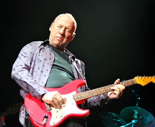 Mark Knopfler red guitar