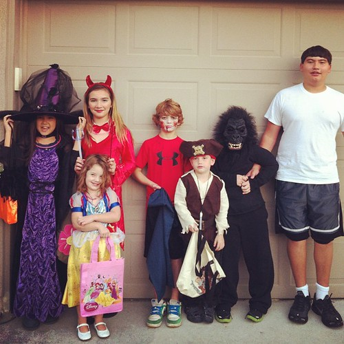 Trick-or-treating with all our old buds! We had a great night!