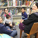 Patrons at Hannah Kerwin Chatham Library in New Jersey after Hurricane Sandy