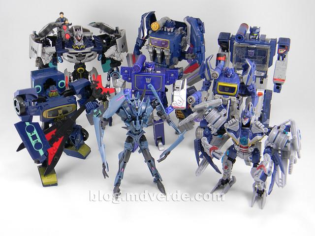 Transformers Soundwave Voyager - Generations Fall of Cybertron - modo robot vs otros Soundwave