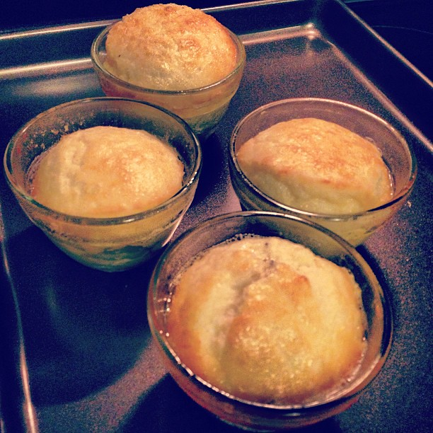 @megan_nerdnest 's cheese soufflé...  Smells incredible!
