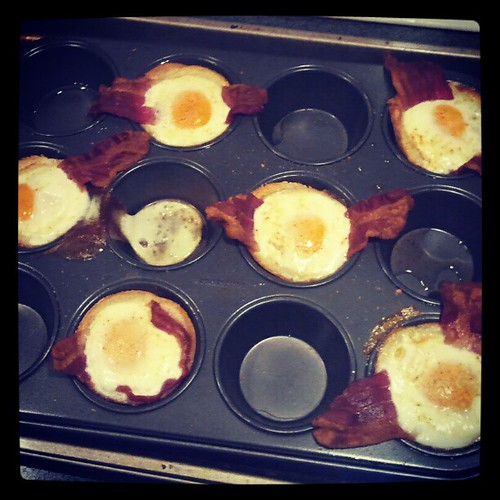 The finished product! Bacon, Egg & Toast Cups... #pinterest #marthastewart #breakfast