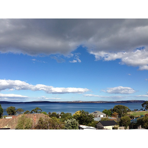 Went up on the roof of my house today for the first time and this was the view. Really need a second storey! -- no filter / no crop / no edit -- #myview #wowballs #nofilter #waterview #ontheroof #uphigh #tasmania #whitagram #scenic #surpriseview