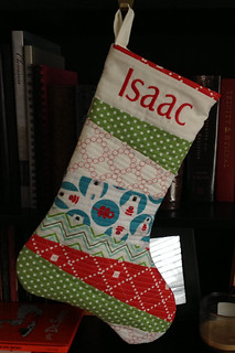 Isaac's stocking front