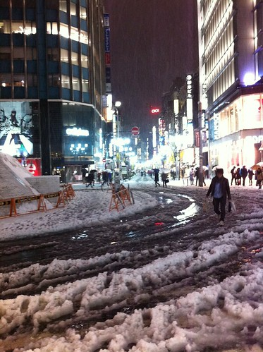 Shinjuku in snow