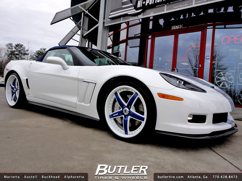 Chevrolet Corvette Gran Sport with 20in Front and 22in Rear Asanti AF166 Wheels