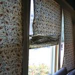 roman blind living room