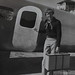 Small photo of Amelia Earhart by aircraft